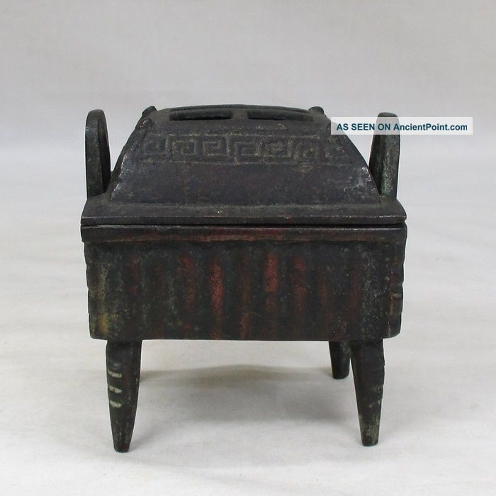 H133: Chinese Tasty Copper Smallish Incense Burner With Appropriate Work Incense Burners photo