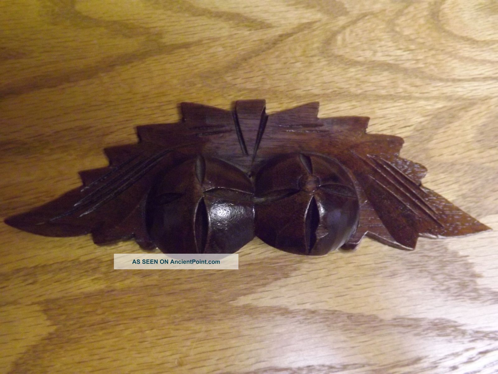Antique Walnut Wood Fruit Nut Leaves Drawer Pull Drawer Pulls photo