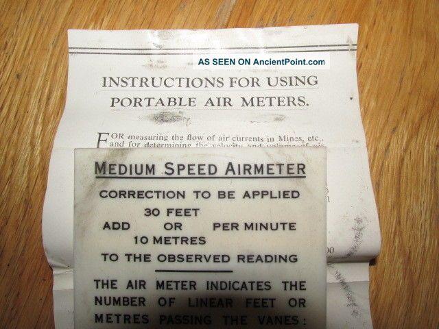 Vintage Negretti & Zambra Air Speed Meter (medium Speed) Fwo Cased Other Antique Science Equip photo