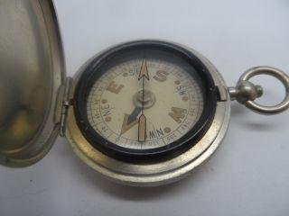 Antique Pocket Metal Compass C - 1915 photo