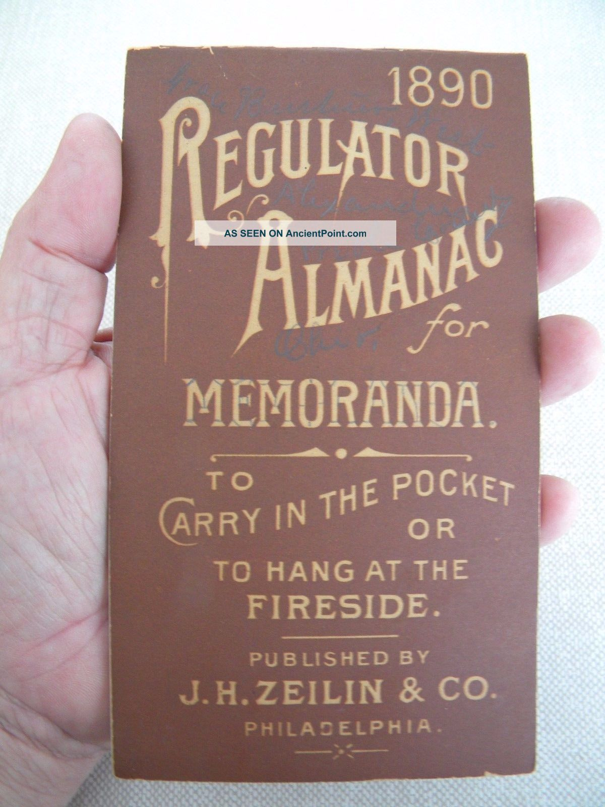 Rare Simmons Regulator Patent Medicine Pocket Almanac West Alexandria Ohio 142 Quack Medicine photo