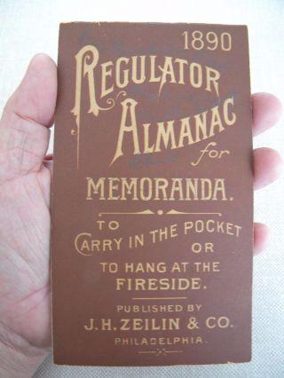Rare Simmons Regulator Patent Medicine Pocket Almanac West Alexandria Ohio 142 photo