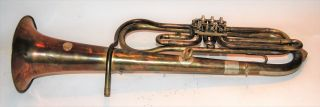 Tenor Horn By Adolfo Lapini - 1899 3 Rotary Valve,  Tall Design photo