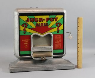 Rare Antique 1930s Jackpot Bonus,  Cash Register,  Coin - Op Trade Stimulator photo