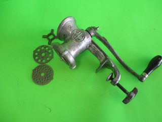Vintage Griswold No.  2 - 1742 4 Blade Hand Crank Meat Grinder Old Kitchen Tool photo