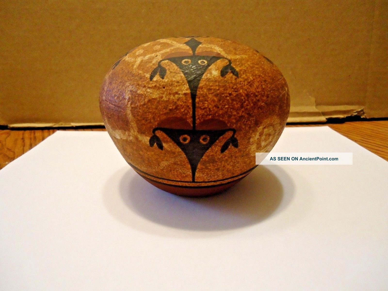 Native American Zia Pueblo Hand Coiled Seed Pot Pottery By Ralph Aragon.  Signed Native American photo