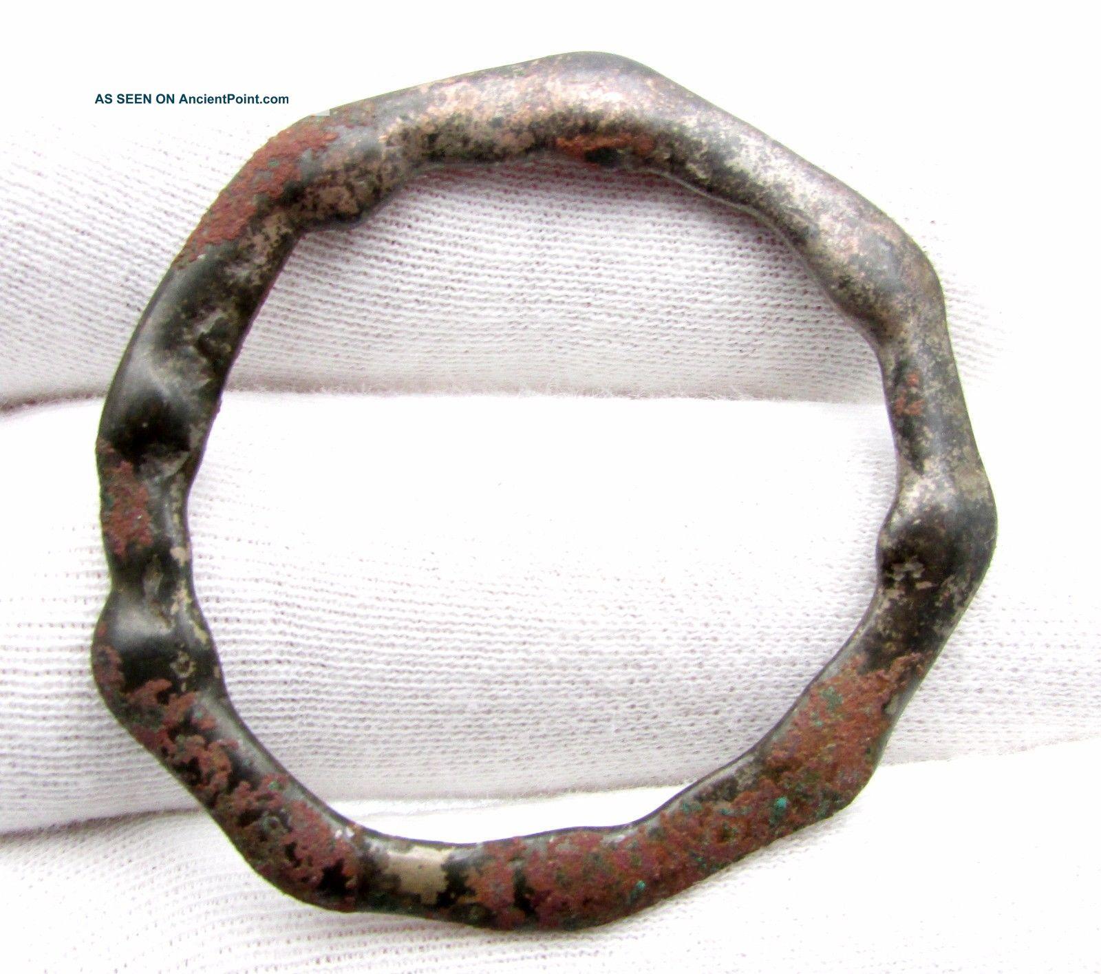 Celtic Bronze Sun Amulet Decorated - Rare Ancient Wearable Artifact - C428 Roman photo