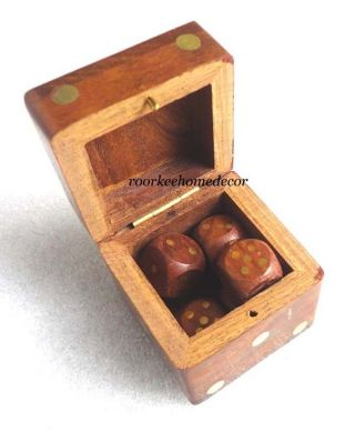 Awesome Elegant Wooden Dice Game,  Collectible Replica Gift photo