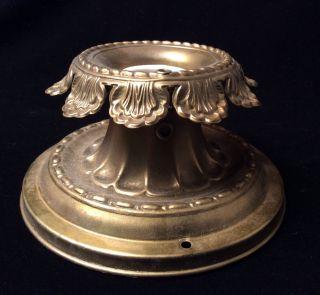 Antique Art Deco Single Bulb Flush Mount Light Fixture,  Bronze Color photo