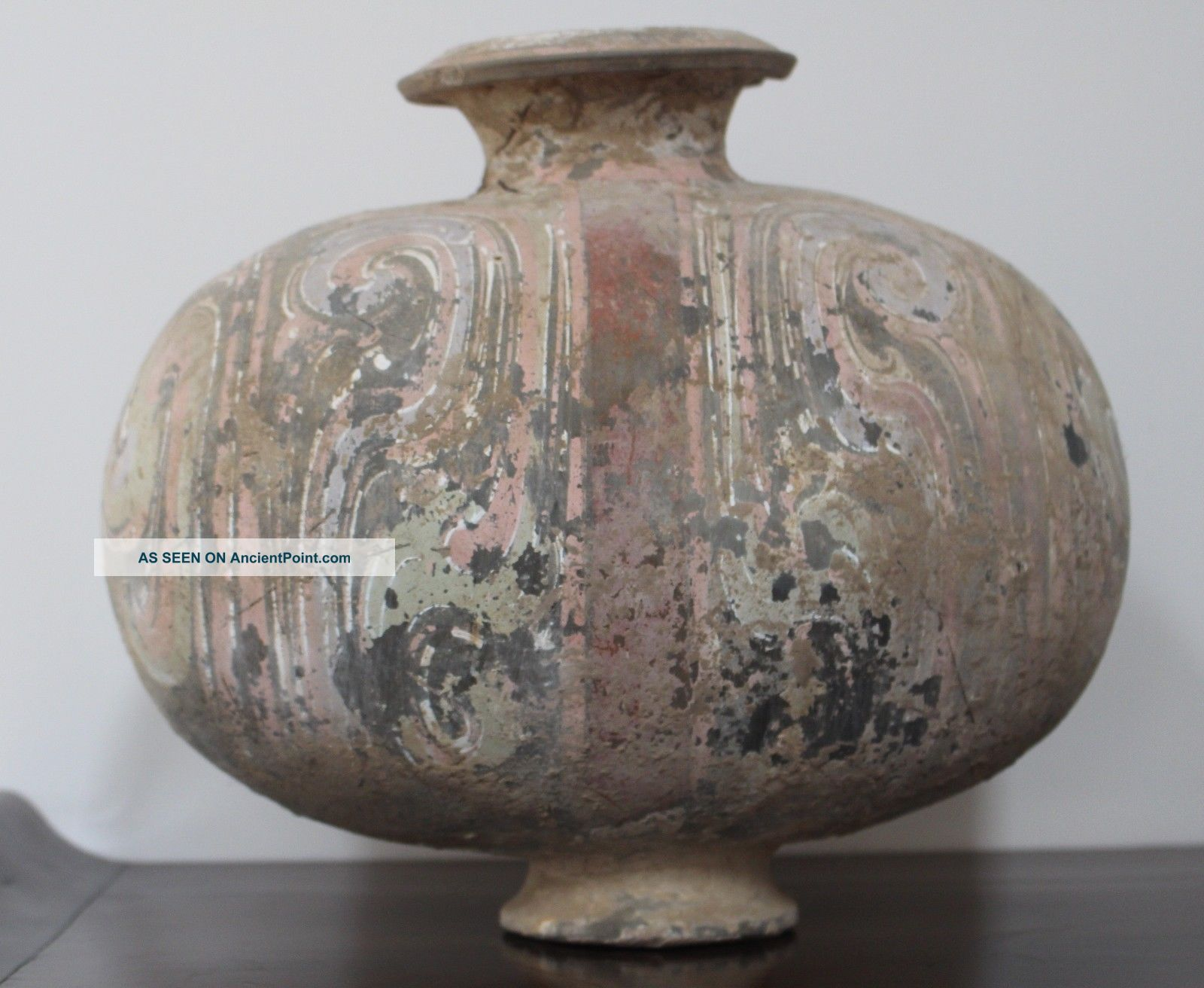 Rare Chinese Han Dynasty Painted Cocoon Jar Chinese photo