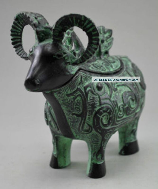 China Hand Made Bronze Sheep Statue Incense Burner Incense Burners photo