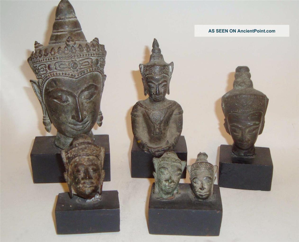 Ayutthaya Period Thai Bronze Buddha Shakyamuni Artifacts 16th - 18th Century Other Southeast Asian Antiques photo