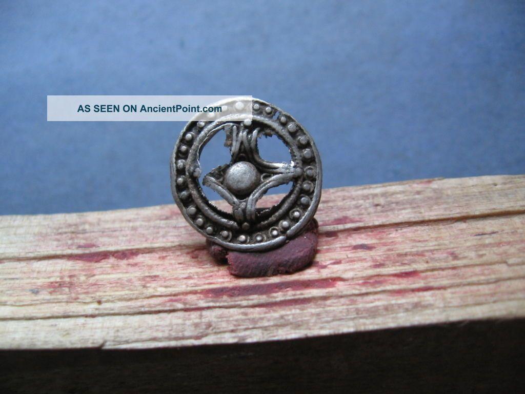 Ancient Celtic Silver Solar Amulet 300 - 100 Bc. Celtic photo