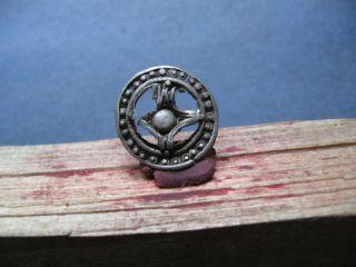 Ancient Celtic Silver Solar Amulet 300 - 100 Bc. photo