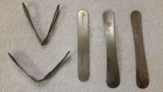 Five Antique Tongue Depressors - Please See Pictures And Description photo