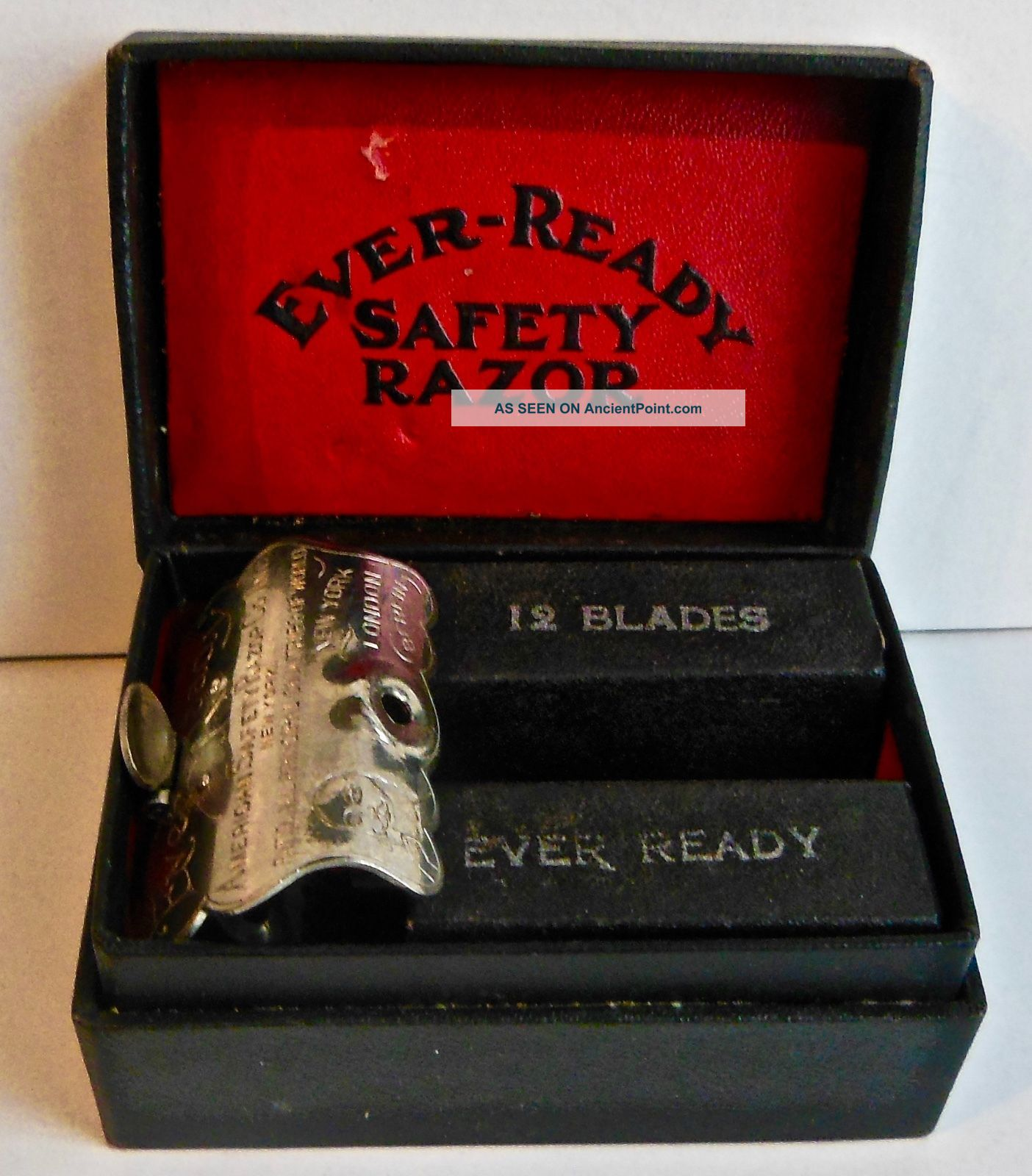Vintage Ever Ready Safety Razor & Blades -, Other Antique Science, Medical photo
