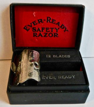 Vintage Ever Ready Safety Razor & Blades -, photo