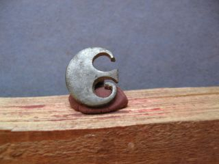 Silvered Crescent Moon Ancient Celtic Bronze Lunar Amulet 400 - 200 B.  C. photo
