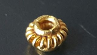 Roman 24k Solid Gold Bead.  15grams photo