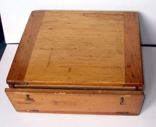 19th.  C.  Microscope Slide Pine Display / Storage Case For 144 Mounts (a/f) photo
