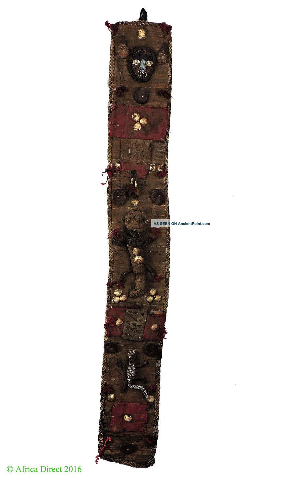 Yoruba Beaded Panel Diviner ' S Beadwork Nigeria African Art Was $225.  00 Other African Antiques photo