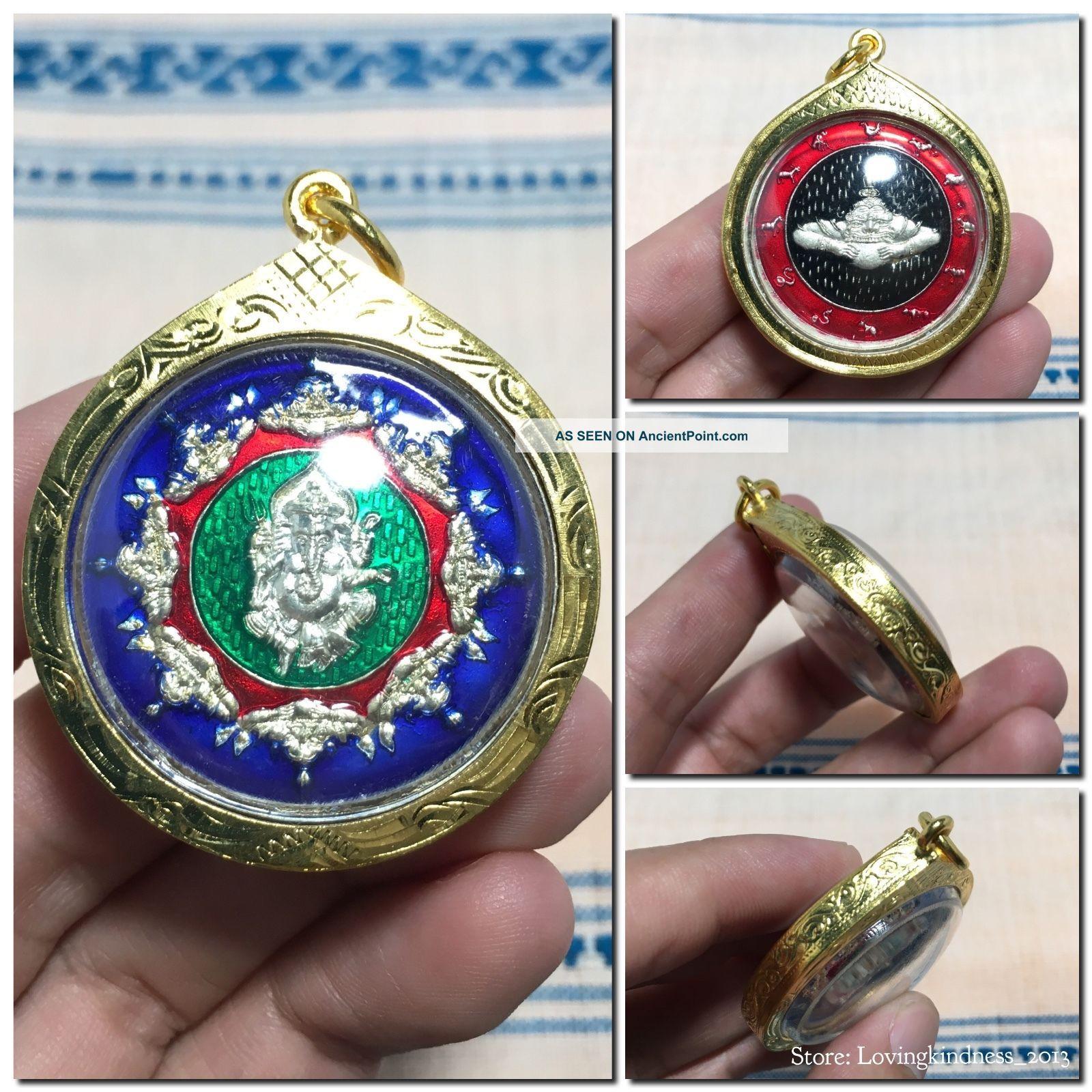 Pikane Ganesha 12 Zodiac Pidta Rahu Om Chan Hindu God Thai Amulet Talisman Amulets photo
