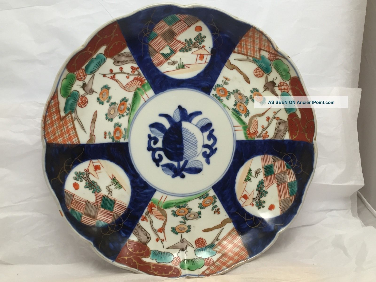 Antique Japanese Arita,  Kakiemon,  Imari Scaloppined Plate 1800 Circa Plates photo