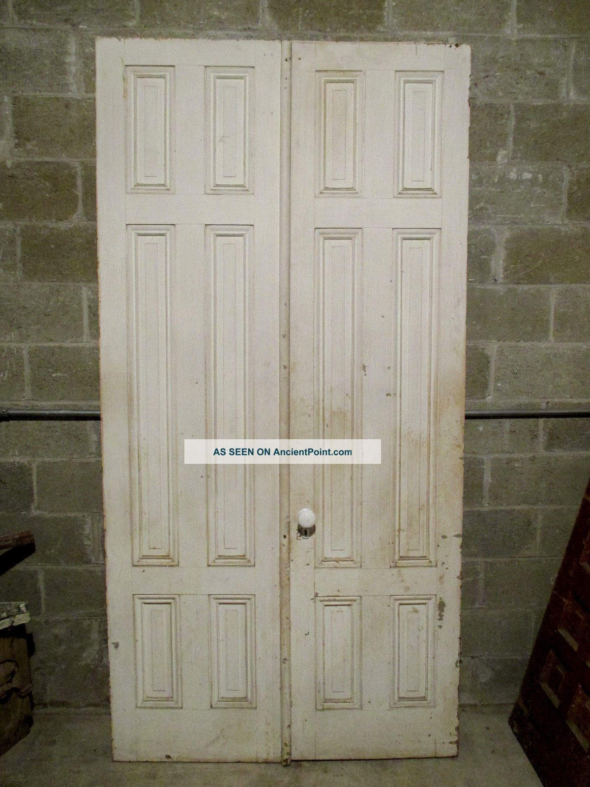 Antique Double Entrance French Doors 48 X 95 Architectural Salvage Doors photo