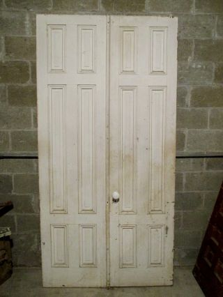 Antique Double Entrance French Doors 48 X 95 Architectural Salvage photo
