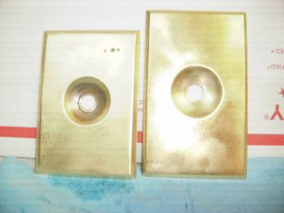 (2) Perkins Electric Twist Switch Brass Cover,  Wall Plate,  Rare photo