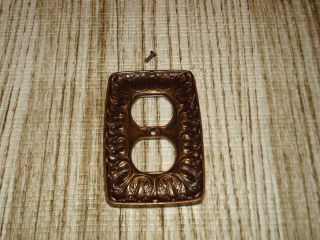 Vintage Brass Outlet Cover Deco Cover Plate. photo