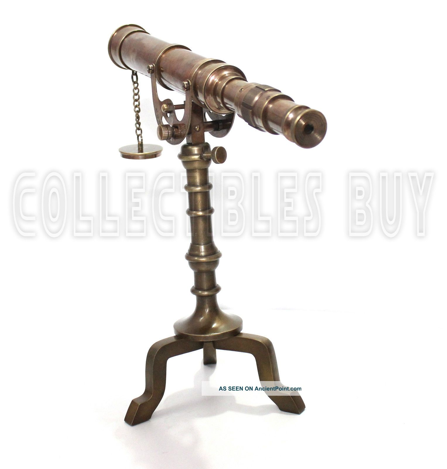 Nautical ‌telescope Vintage Brass Tripod Desk Decorative Nautical Gift ‪item Telescopes photo