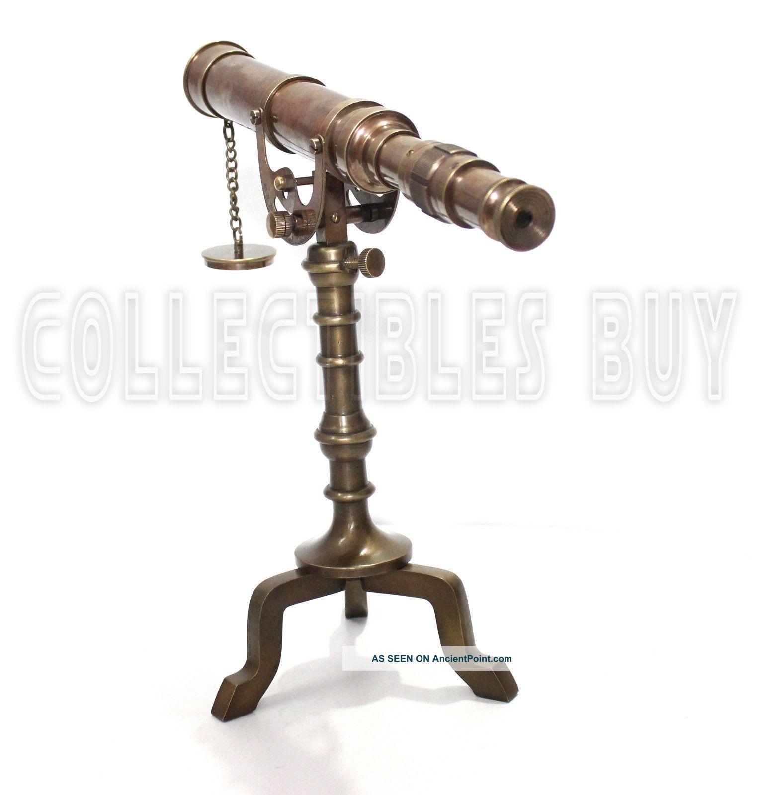 Nautical telescope Vintage Brass Tripod Desk Decorative Nautical Gift item Telescopes photo