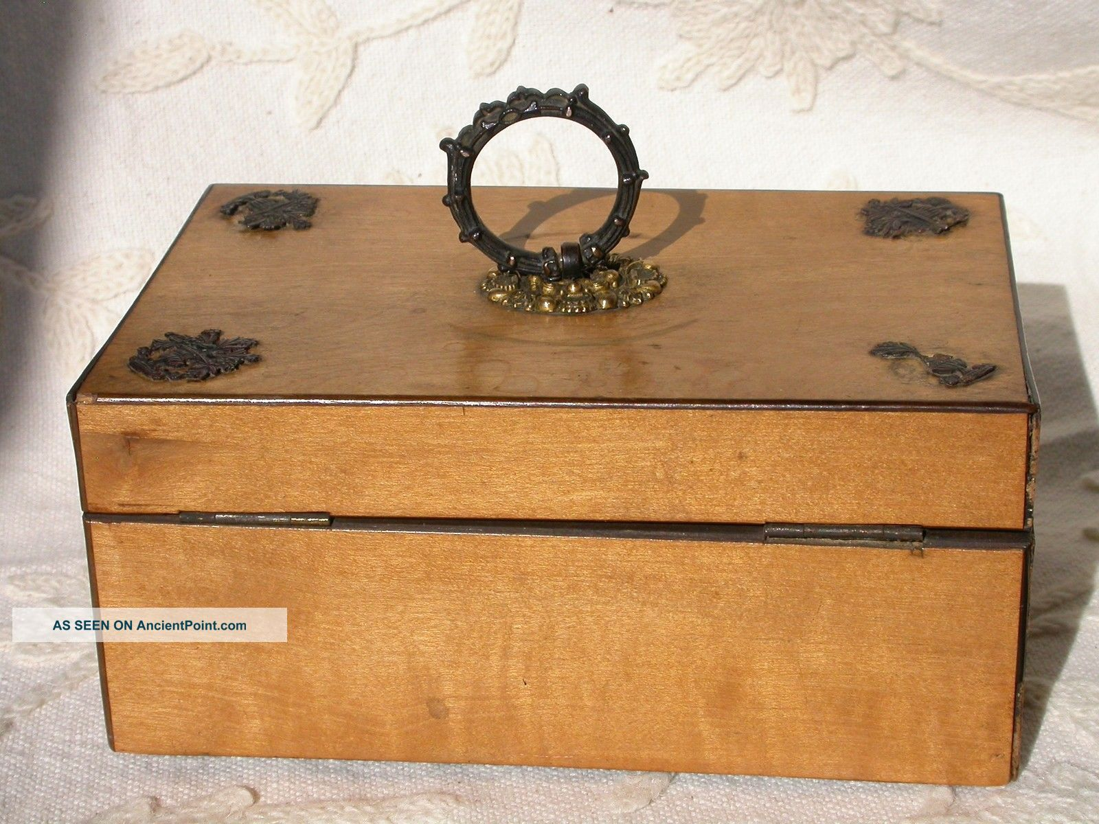 Splendid Antique Palais Royal Sewing Box 8 Tools Pansies Paris C 1810 Tools, Scissors & Measures photo