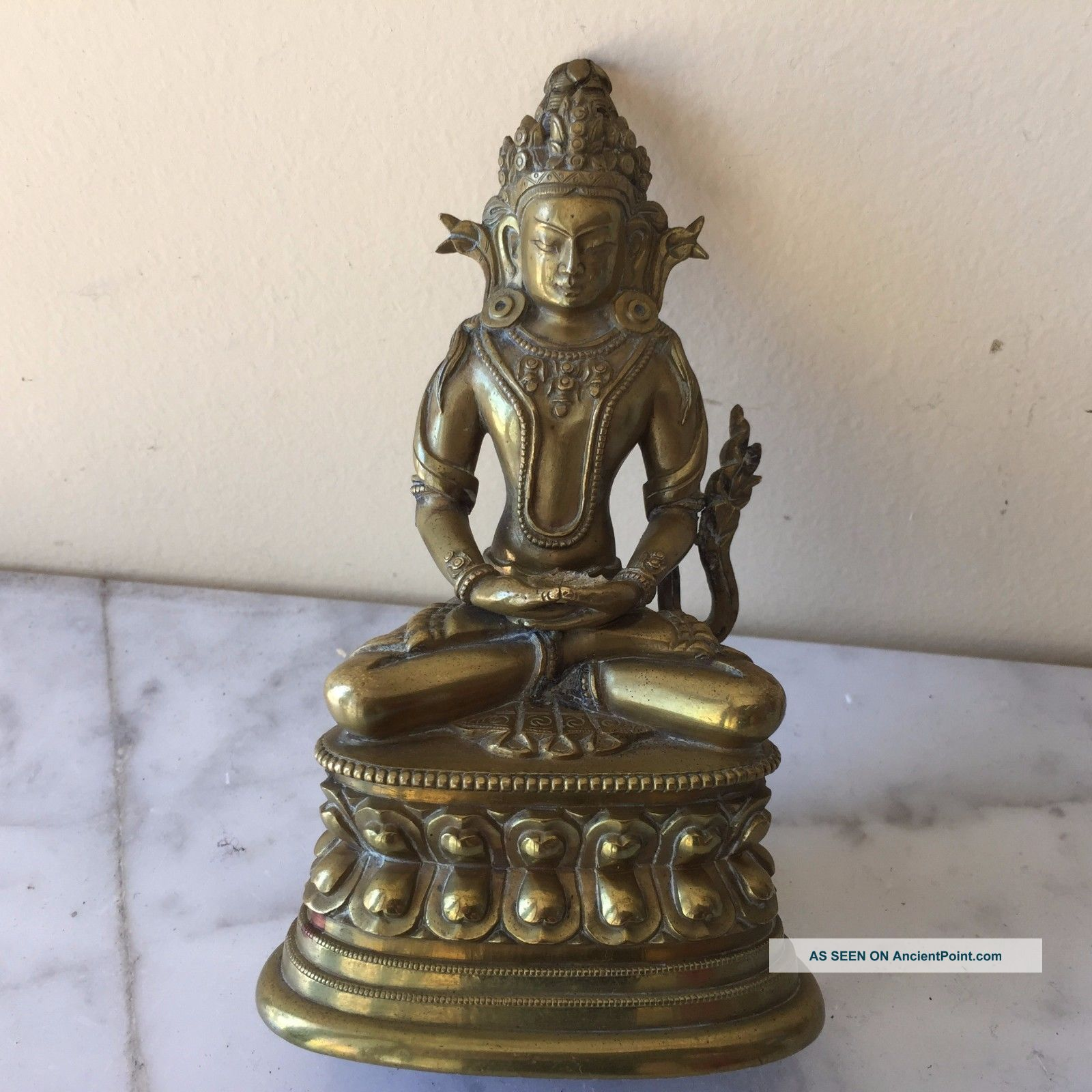 Antique Chinese Bronze Buddha Statue Figurine Figurine See more Antique Bronze Buddha Statue photo