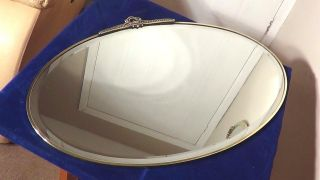 A Good Edwardian Brass Framed Wall Mirror,  Circa - 1900.  Uk P&p photo