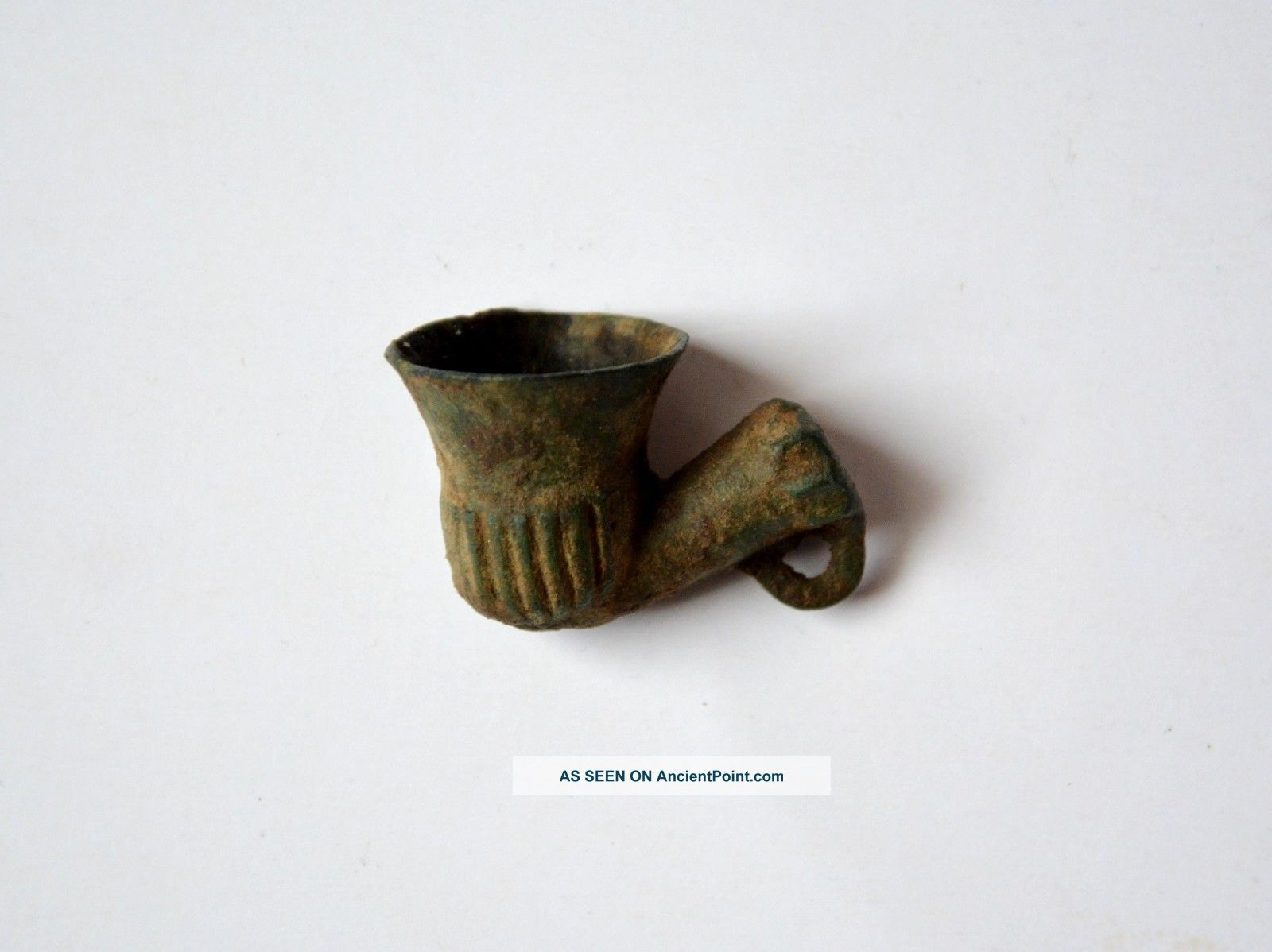 Antique Turkish Miniature Bronze Pipe Islamic photo