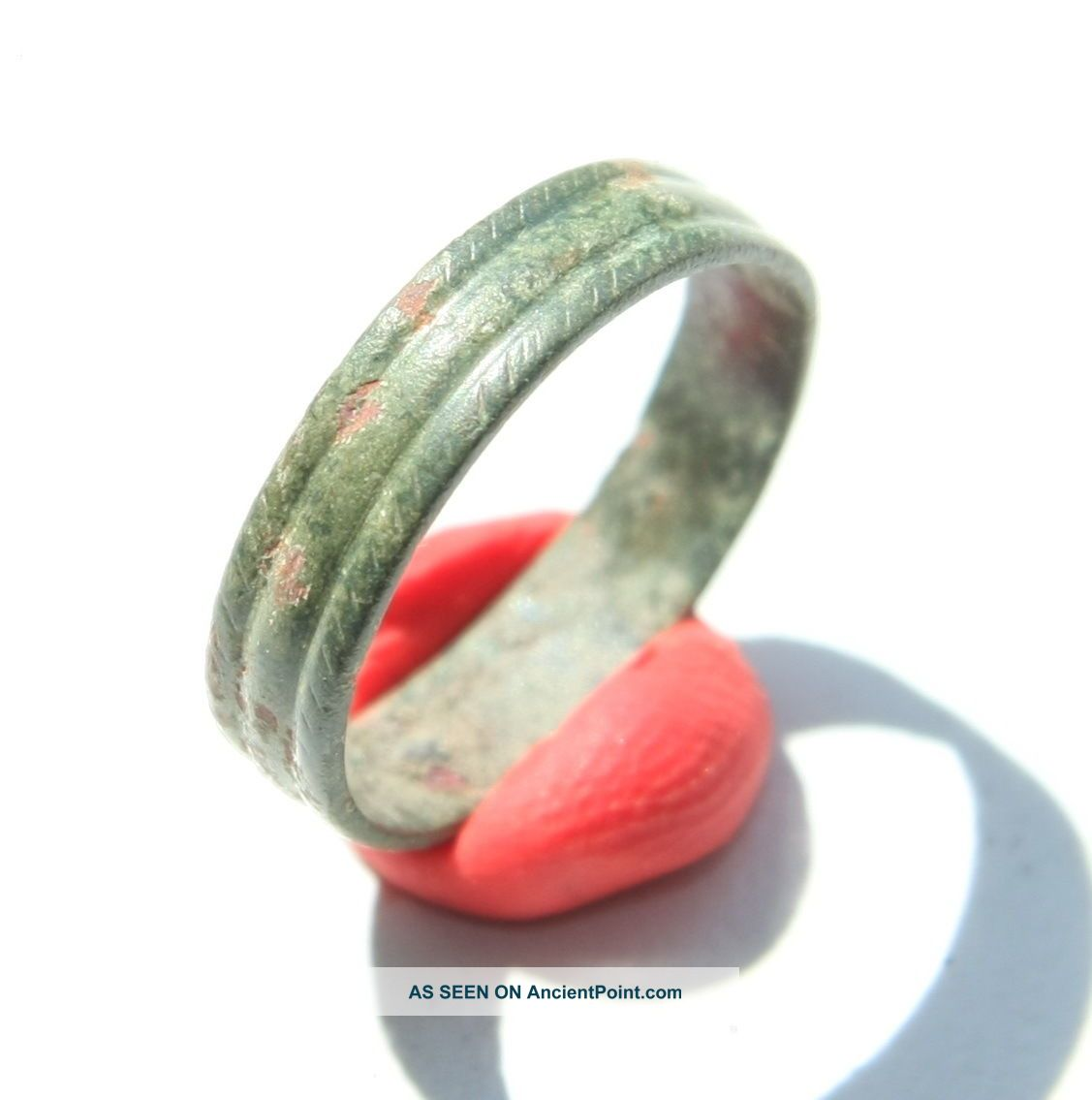 Ancient Old Medieval Ornament Bronze Finger Ring (jnn01) Viking photo