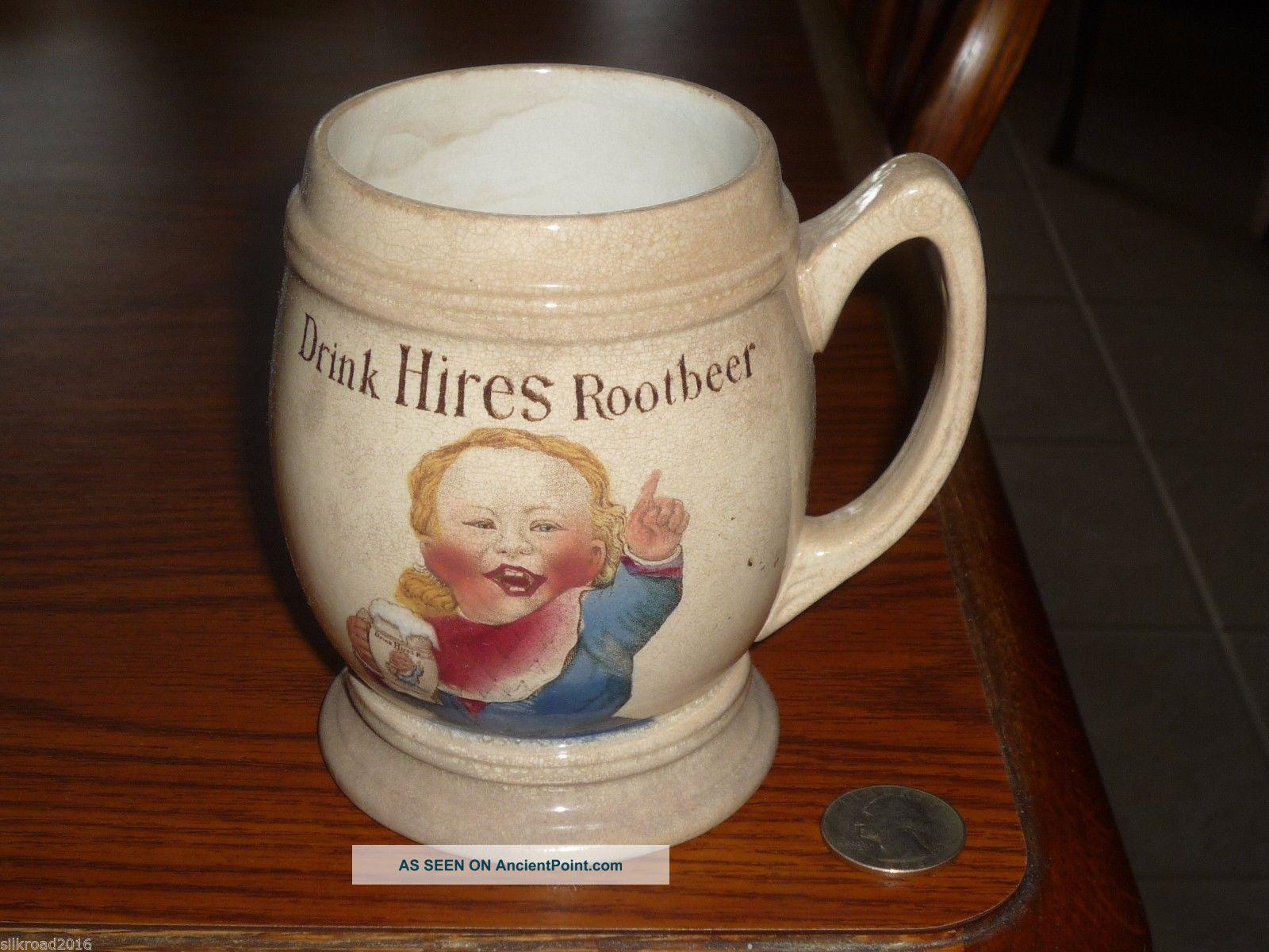 Vge 1907 Villeroy & Boch Color Litho: Drink Hires Root Beer American Adv.  Mug Mugs & Tankards photo