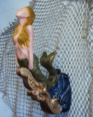 Small Mermaid Ships Figurehead Nautical Folk Art Decor photo