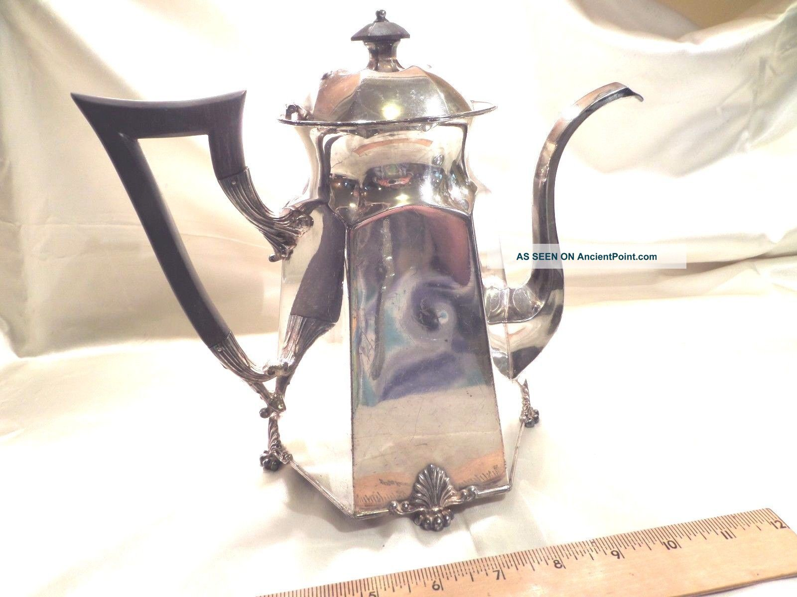 Antique Pairpoint Mfg.  Co. ,  Bedford,  Ma,  Quadruple Plate 6 - Sided Coffee Pot Tea/Coffee Pots & Sets photo