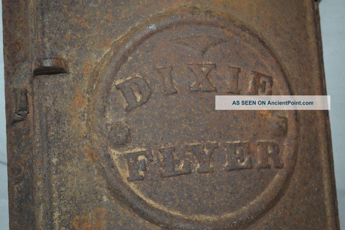 Antique Dixie Flyer Railroad Cast Iron Door Frame Vent Shutter Art Decosteampunk Stoves photo