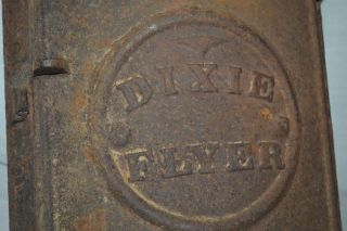 Antique Dixie Flyer Railroad Cast Iron Door Frame Vent Shutter Art Decosteampunk photo