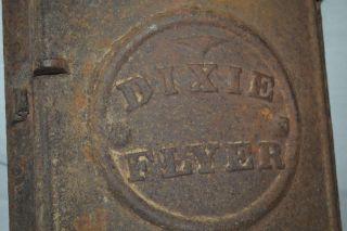 Antique Dixie Flyer Railroad Cast Iron Door Frame Vent Shutter Art Decosteampunk photo