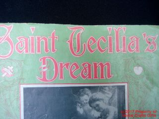 1904 Antique Sheet Music St Cecilia ' S Dream Piano Hand Sewn Geo.  Marshall - photo