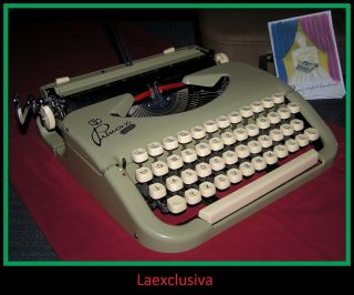 Fabulous Mango Green Princess Typewriter Of The 50s - Slim Model - (video) photo