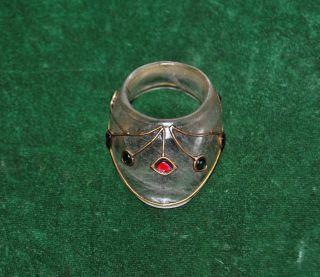 Ottoman Mughal Style Rock Crystal Gem Setted Archer Ring Archery Qing Dynasty photo