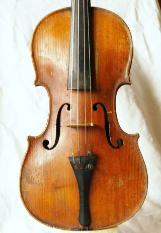 Antique Italian Labeled Violin A.  Skaliari 1736 photo