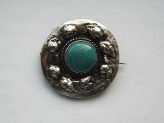 Antique Arts & Crafts Silver Ruskin Brooch - C.  1900 - 1910 photo