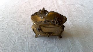 Antique Art Nouveau W.  B.  Mfg Co.  Footed Jewelry/trinket Box photo